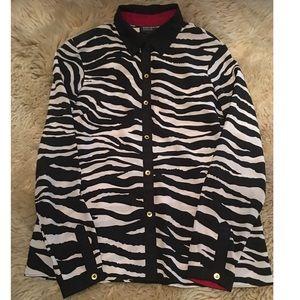 EUC Jones New York Size 6 Zebra Stripe Blouse
